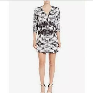 PARKER Catalina Draped Mirror Print Mini Dress